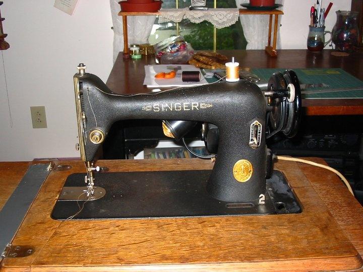 40 Singer 4040 Krinkle Paint Finish In Tiger Oak Cabinet Fascinating Singer Sewing Machine Model 66 18
