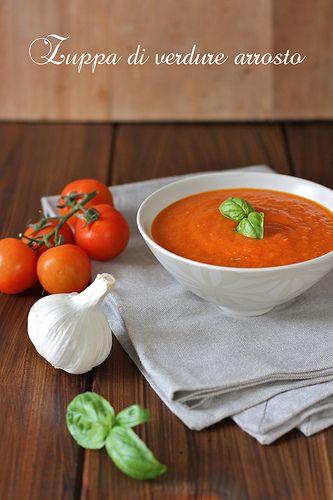 La tana del coniglio: Zuppa di verdure arrosto - Soup of roasted vegetables