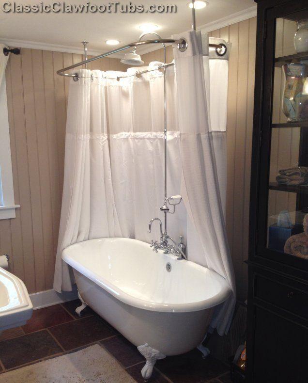 Cast Iron Bathtub Shower Enclosure | Truly Visually Enticing Vintage  Clawfoot Tub Experience.
