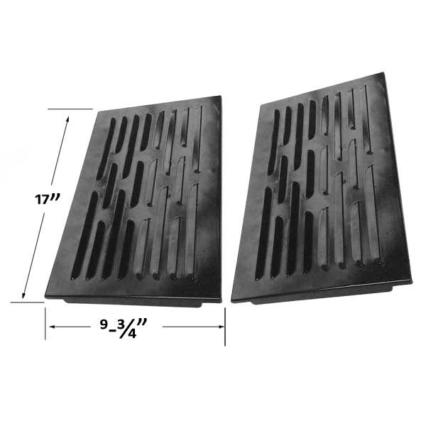 2 PACK REPLACEMENT PORCELAIN STEEL HEAT SHIELD FOR GRAND CAFE, GRAND HALL 9803S, GC-1000, GC-2000, GC-3000, GQ-5001D, GQ-5002D GAS GRILL MODELS  Fits Grand Cafe Models :  G1000 , GC2000 , Grand Cafe 1000 , Grand Cafe 2000 , Grand Cafe 3000  BUY NOW @ http://grillpartsgallery.com/shopexd.asp?id=35787&sid=15772