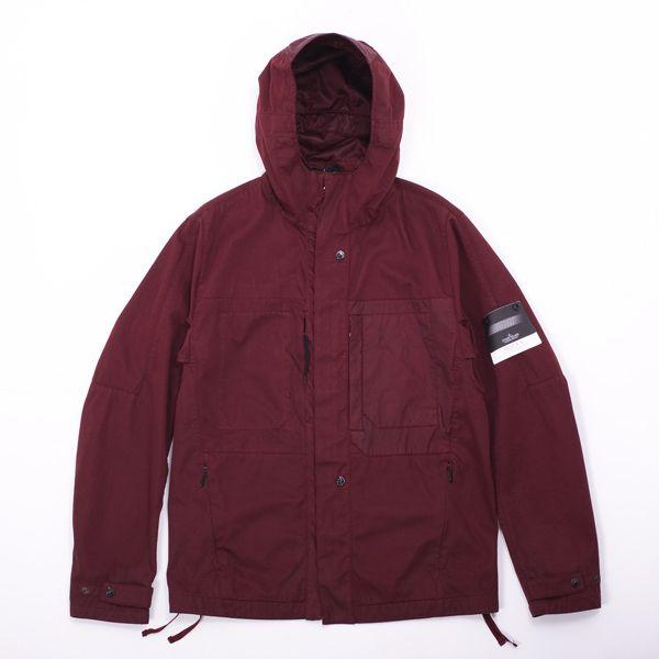 Stone Island Shadow Garment Dyed Raso-R 3-Layer Hooded Jacket - Sleek new water…