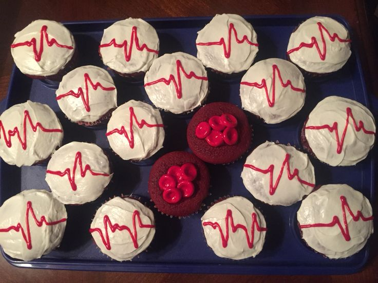 My Heartbeat and Red Blood Cell cupcakes-Leticia Holguin