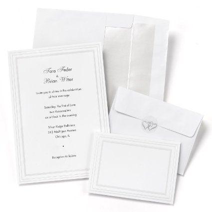 Hortense B. Hewitt 50 Count Triple Pearl Border Invitation Kit