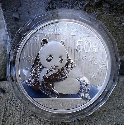 2015 PANDA SILVER AUTHENTIC 50 YUAN COIN FROM CHINA WITH 5 OUNCES OF SILVER