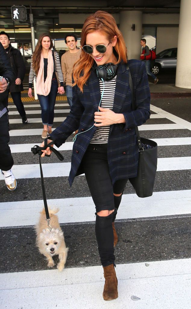 Brittany Snow from The Big Picture: Today's Hot Pics Precious pooch! The actress is seen arriving back at LAX with her adorable pup.
