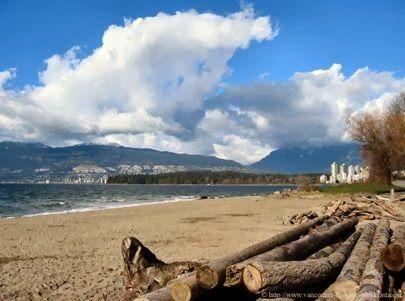 Beautiful Kitsilano Beach, Vancouver
