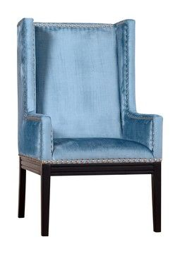 Tribeca Blue Velvet Chair