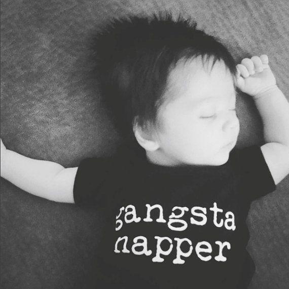 Hey, I found this really awesome Etsy listing at https://www.etsy.com/listing/291355265/baby-boy-onesie-gangsta-napper-onesie