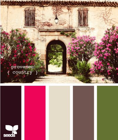 Provence Country - The perfect color pallete
