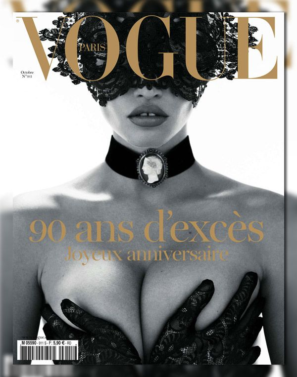 Vogue Paris October 2010 Cover ▪ Photographer: Mert Marcus ▪ Model: Lara Stone #Sabelline