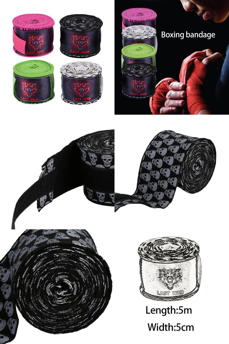 [Visit to Buy] 1 piece Printing Style Sports Boxing Gloves Strap Sanda Muay Thai Fighting Boxing Bandage Protecting Wrist Training Accessory #Advertisement
