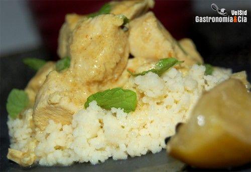 Receta de Pollo al curry verde con coco