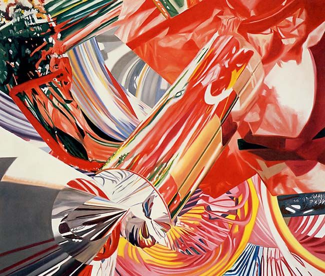 "Hitchhiker -- Speed of Light by James Rosenquist, oil on canvas, 58"" x 69"", 1999"