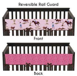 Cowgirl western crib rail covers