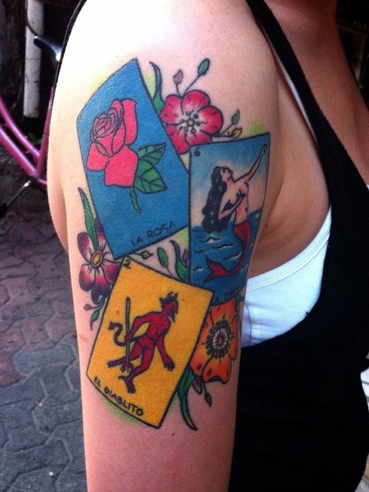 355 best loteria images on pinterest mexican tattoo for Bingo tattoo ideas