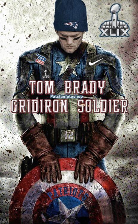 patsfanfotoshop:Tom Brady - Gridiron Warriorv2  Tom Brady - the hero we need now more than ever. #GoPats #SB49