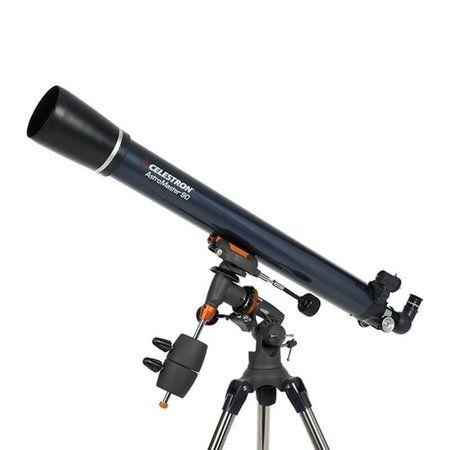 Telescópio Refrator Celestron AstroMaster 90EQ #telescópio #telescope #celestron #refrator #90eq #astromaster #equatorial #cg-3