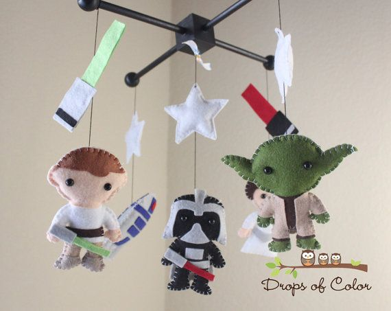 Baby Mobile - Star Wars Baby Crib Mobile by Drops of Color