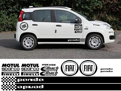 fiat panda kit x16pc graphics stickers decals silver car motorbike car. Black Bedroom Furniture Sets. Home Design Ideas