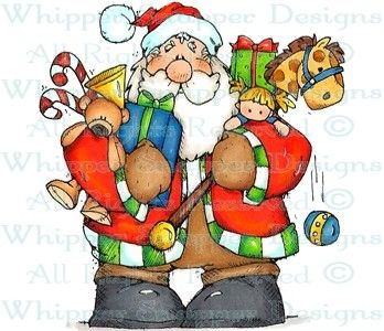 Ready to Go Santa - Christmas Images - Christmas - Rubber Stamps - Shop