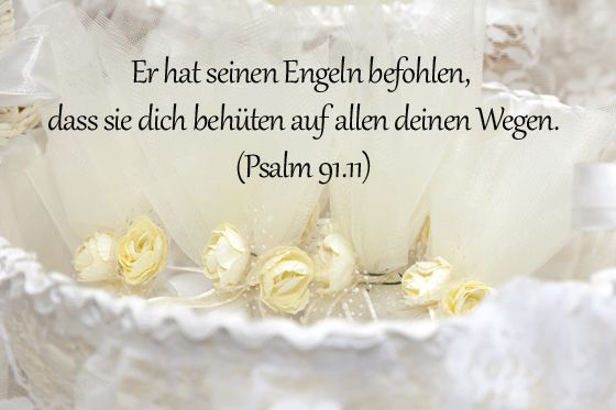 Taufsprüche: Psalm 91,11 - Bilder