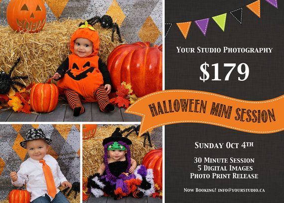 Halloween Mini Session, INSTANT DOWNLOAD, Mini Session Template, Halloween Flyer