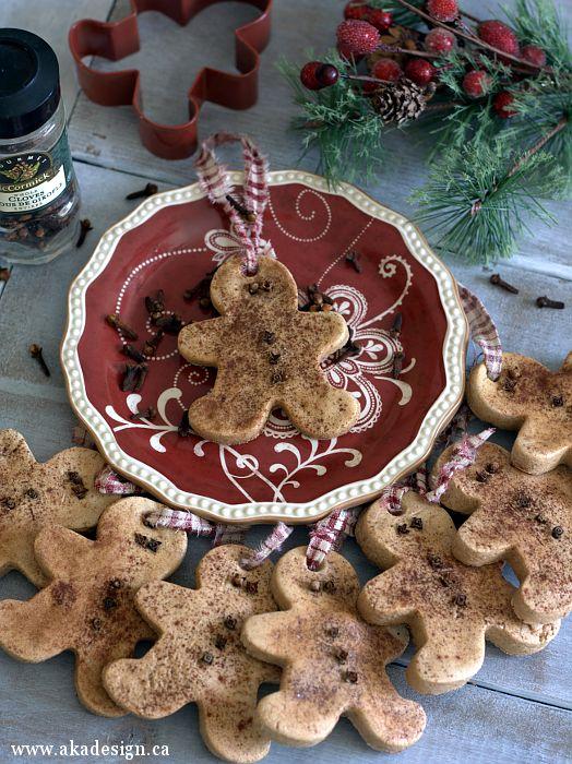 Gingerbread Salt Dough Ornaments, DIY Christmas tutorial and Christmas decor crafting