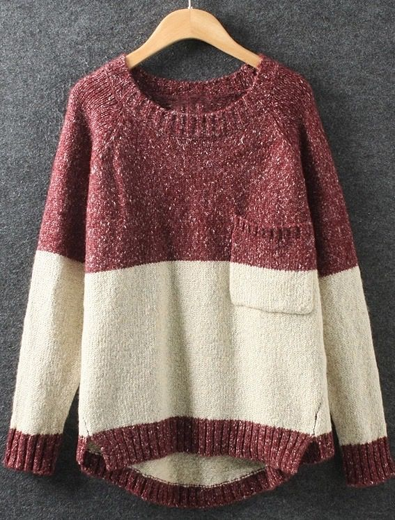 Irregular Loose Pullover Sweater                                                                                                                                                                                 More