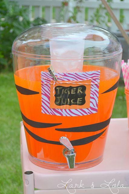 Tiger juice, for a tiger themed party!