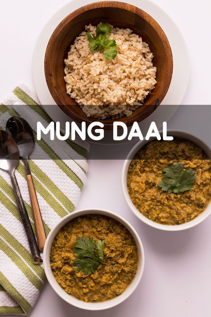 Mung Daal - Sprinkle with Love - a quick and convenient recipe for a thicker stew-like mung daal.  An EASY Indian vegetarian meal!
