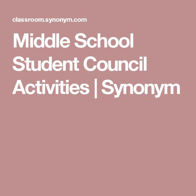 Middle School Student Council Activities | Synonym