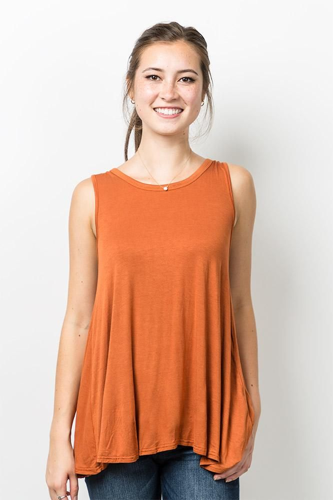 Extremely Sale Online Outlet Top Quality Sleeveless Top - Terracotta Top by VIDA VIDA LCSXm