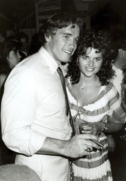 Arnold Schwarzengger and Maria Shriver at Studio 54