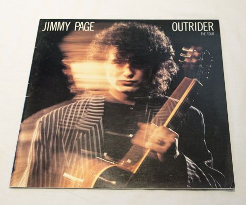 Jimmy Page 1988 Outrider The Tour Concert Program Book, Led Zeppelin