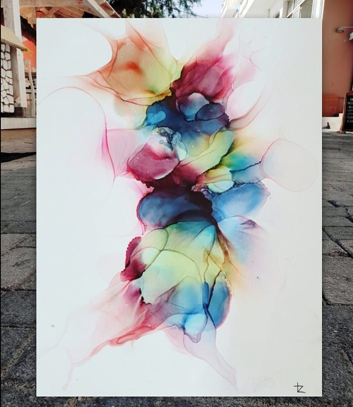 Love Abstract Here My Abstract Alcohol Ink Painting On Yupo Size A3 29 7 X 42 Cm Hope You Enjoy It Painting Tutorial Abstract Alcohol Ink Ink Painting