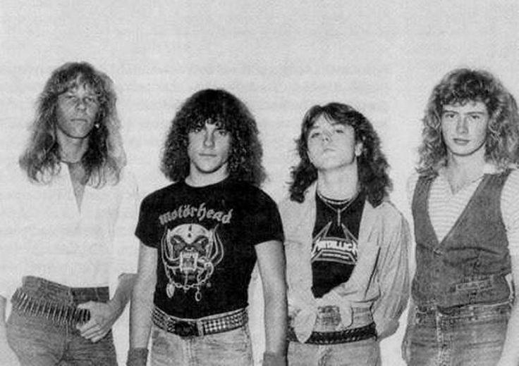 Metallica with Ron McGovney.