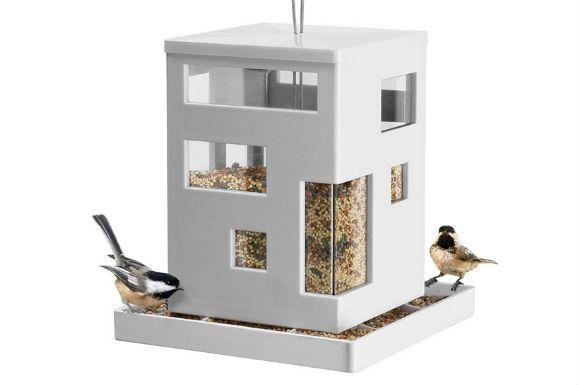 bird cafe.....great for a modern space!Birds Feeders, Cafes Feeders, Modern Birds, Bird Feeders, Birds Cafes, Gardens, Birds House, Umbra Birds, Cafes K-Cup