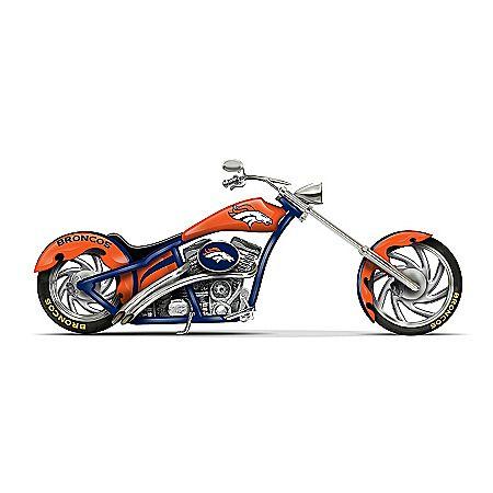 Figurines: Denver Broncos Motorcycle Figurine Collection