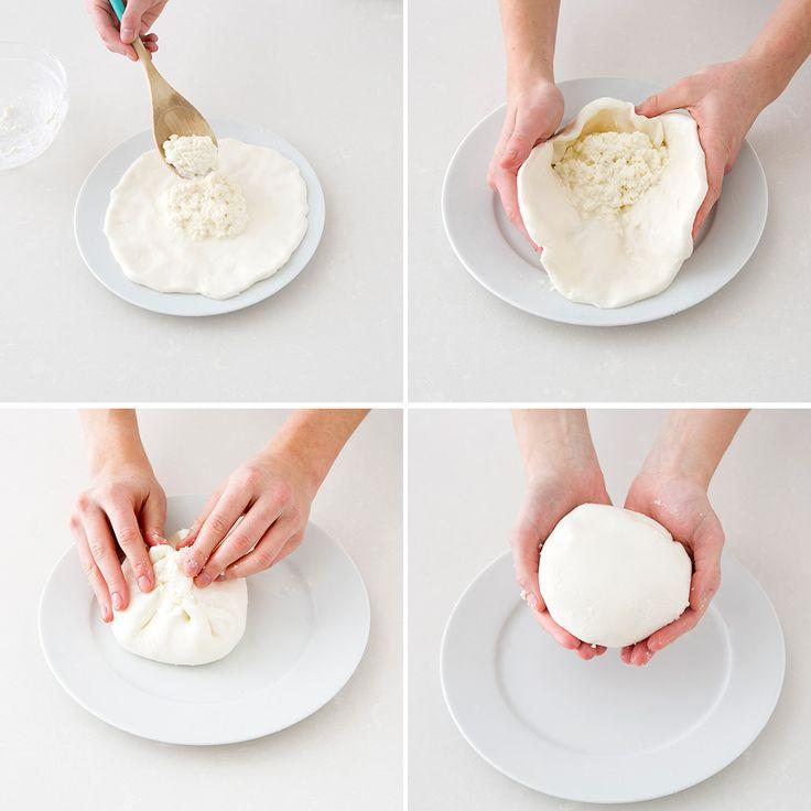 Use this recipe to make homemade burrata.