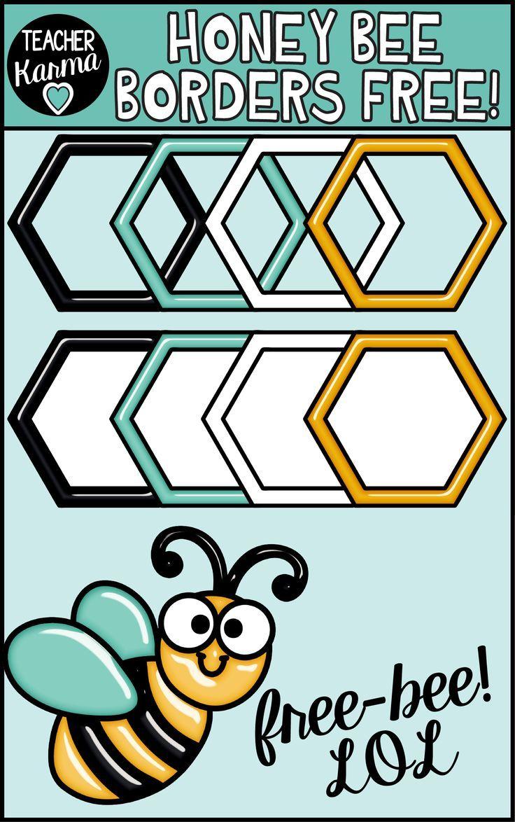 Honey Bee Freebie Free Honeycomb Borders Frames Clipart Bee Clipart Clip Art Clip Art Borders [ 1174 x 736 Pixel ]