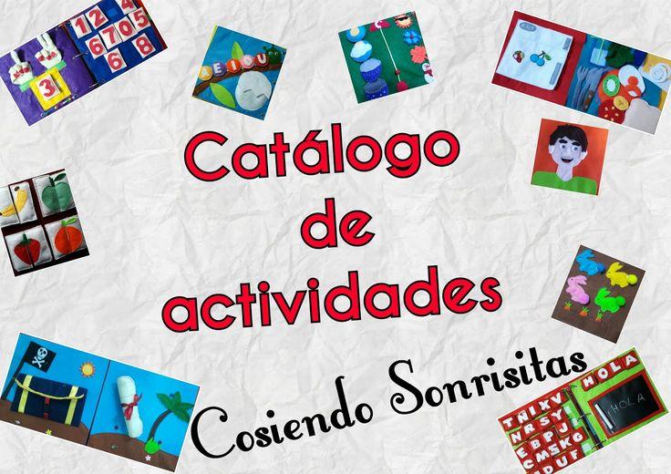 Catalogo de Actividades para Libro Sensorial MODELOS DE COSIENDO SONRISITAS Los libros sensoriales personalizados son princi...