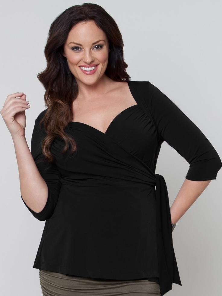 Nothing is more fetching for spring than the flattery of a functional wrap top. This one is inspired by our bestselling Sweetheart Wrap Dress.