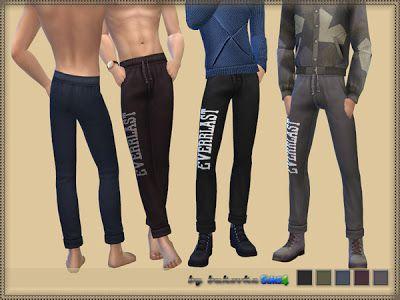 """The Sims 4 Mody: Spodnie męskie """"Everlast"""" od Bukovka"""
