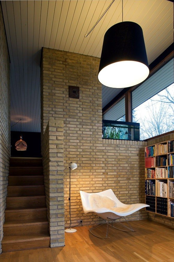 Family home in Aarhus (1966). Stingray rocking chair, Fredericia Furniture