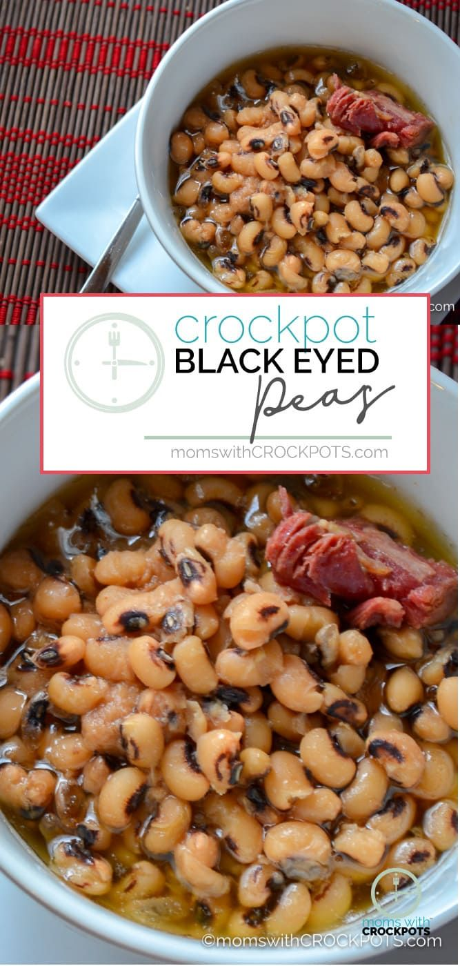 This is perfect for New Years, and tasty any day of the week. Try this simple and Amazing Crockpot Black Eyed Peas Recipe for your family! #recipes #crockpot #newyears via @MomsWCrockpots