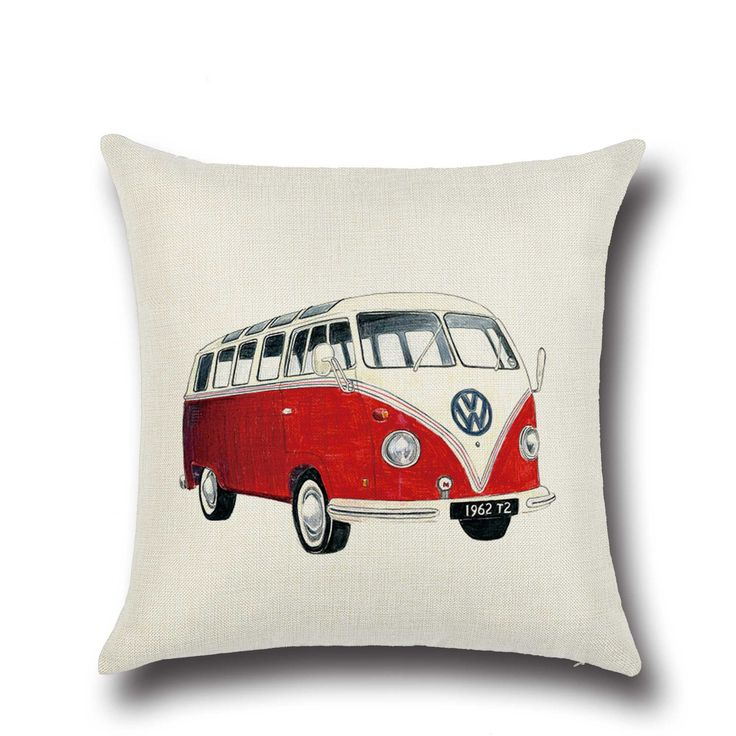 Decorative Pillows Without Covers : Creative Cartoon Bus Pillow Covers for Car Couch Sofa Chair Cushions without Core (45cm * 45cm ...