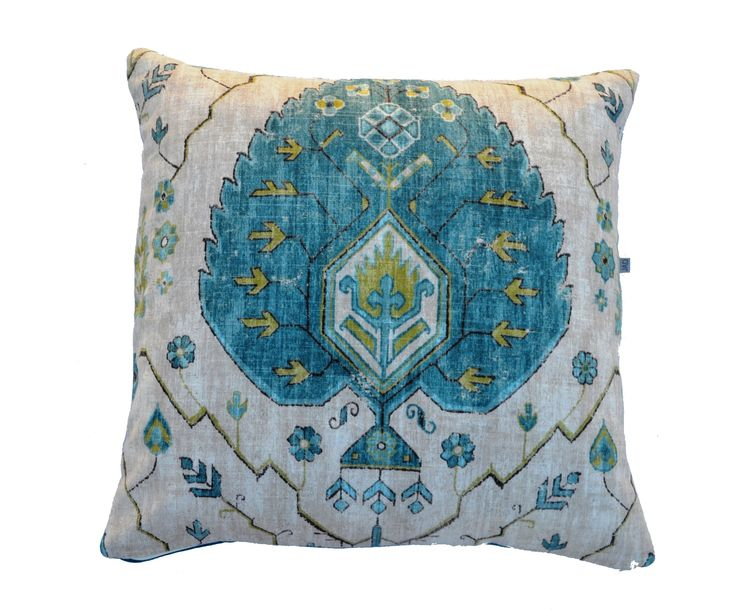 Aubusson Aegean cushions , beautiful linen and rayon mix.