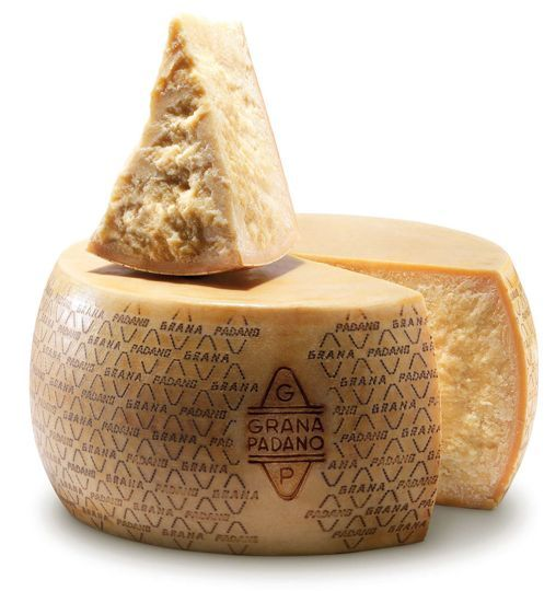 "Grana Padano The best parmesan cheese I've ever tasted. Even if you don't like parmesan (it's ""stinky""), give it a try. A little pricier, but well worth it. Sweet, nutty, moist, and not ""stinky"" at all!"