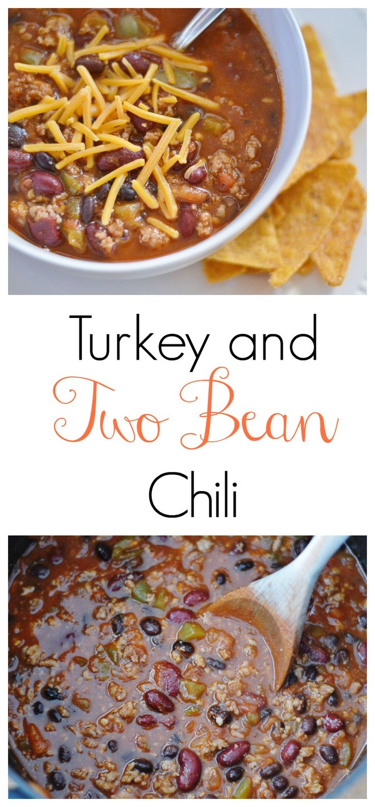 The Art of Comfort Baking:  Turkey and Two Bean Chili #chili #comfortfood