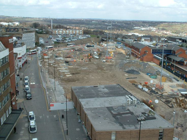 Barnsley Bus Station after it was pulled down South Yorkshire